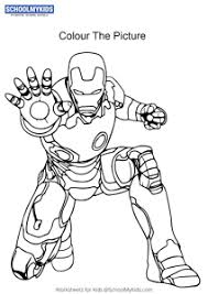 Coloring pages of iron man, one of the superhero's from de avenger movies. Iron Man Iron Man Coloring Pages Worksheets For Kindergarten First Grade Art And Craft Worksheets Schoolmykids Com