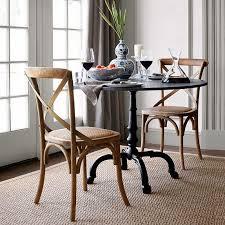 la coupole indoor outdoor dining table round black granite top