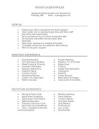 resume for front desk front office receptionist sample resume podarki co