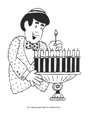 Small Picture Hanukkah Coloring Page Menorah PrimaryGames Play Free Online