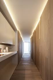 time design smaller lighting coves. Living Idea Corridor White With Fitted Kitchen And Creative Wall Design Wooden Panels Time Smaller Lighting Coves