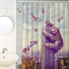 funny shower curtain. 13. Sloth Kong, Not A Monster, Just Misunderstood Funny Shower Curtain