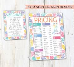 Llr Pricing Size Charts For Pop Up Boutiques Paisley