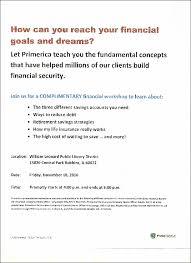 Primerica Financial Primerica Financial Workshop Leonardlibraryrobbinss Blog