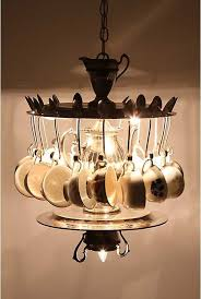 32 tea time chandelier animating light 38 ingeniously clever ways to repurpose old