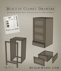 built in closet drawers part of the build basic closet system building plans