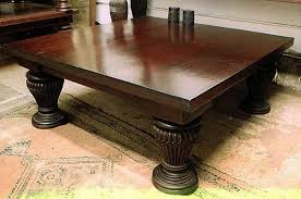 Image Of: Square Rustic Coffee Table With Storage