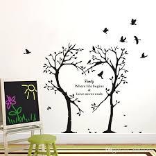 wall decor stickers creative family heart tree wall decals removable family wall stickers mural art home