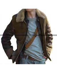 maze runner cure thomas bro fur collar leather jacket