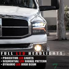 Ram Led Lights Details About Topline For 2006 2009 Dodge Ram Full Led Sequential Projector Headlights Black