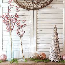 Decorative Balls Next Decorative red tree picks in vases rustic tabletop tree and 32