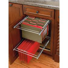 Rev-A-Shelf - Two-Tier Pull-Out File Drawer System for Kitchen or Desk  Cabinet, Min Cab Opening: 14-1/2