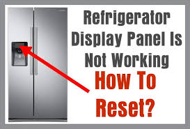 refrigerator display not working