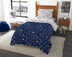 excellent design ideas chargers comforter set nfl sheets twin blue white football themed team logo uni and s
