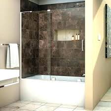 bathtub glass shower doors bathroom image for tub enclosures full post bear custom
