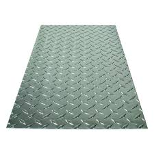 m d building s 36 in x 36 in x 0 025 in diamond tread aluminum sheet in silver 57307 the home depot