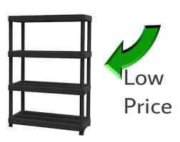 hdx 4 shelf plastic ventilated storage shelving unit