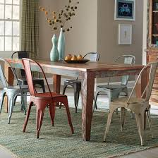 coaster keller dining table scrubbed paint look in multi color