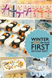 winter onederland 1st birthday party