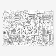 メガ ぬりえ 子供 塗り絵 ジャパン オランダ製 日本語ストーリーブック付 誕生日プレゼント プレゼント 雑貨