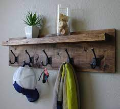corvallis coat rack with floating shelf