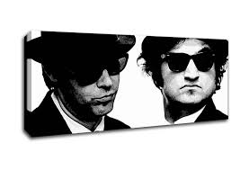 people panoramic panel the blues brothers canvas art on blues brothers wall art with the blues brothers people panoramic panel canvas panoramic canvas