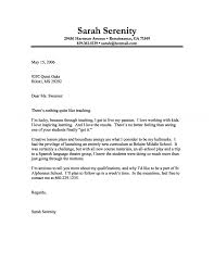 Awesome Collection Of Cover Letter Example Of A Teacher With A
