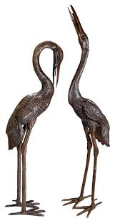 heron statues set of 2 extra large