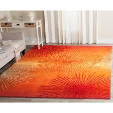 safavieh soho rust orange area rug designs