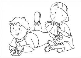 Small Picture Caillou playing video game coloring pages Fun Coloring Pages