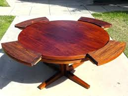 expanding round table expands expandable plans beautiful rectangle to square mechanism kit rotat expanding round table