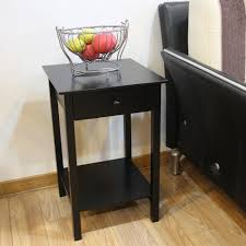 black wooden coffee table with drawers storage side ba0001 the home depot end tables 64 black