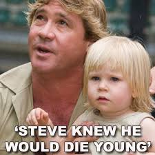steve irwin son. steve irwin with son robert, who has struggled to cope more than bindi the