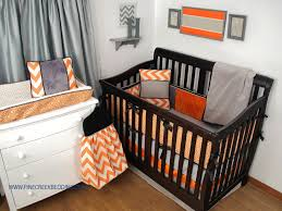 orange and blue boy crib bedding design ideas