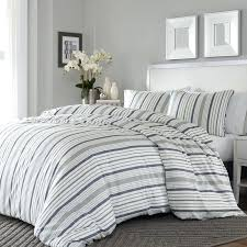 blue and white striped duvet cover 3 piece reversible duvet cover set blue and white striped duvet set
