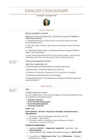 Media Planner & Buyer Resume samples