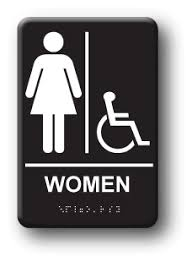 bathroom sign. Unique Sign And Bathroom Sign