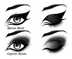 a smoky and glamorous effect can be achieved on your eyes with the help of a black eye makeup no matter what size and shape your eyes are black eye makeup