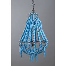 emac lawton beaded chandelier small turquoise