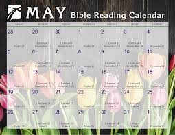 May 2019 Daily Bible Reading Calendar In Gods Image