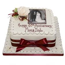 40th Anniversary Photo Cake Online Free Home Delivery Yummycake