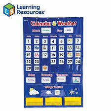 Calendar Pocket Chart Weather Classroom Organization Learning Resources