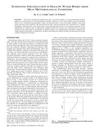 Wordens Pond Depth Chart Pdf Estimating Stratification In Shallow Water Bodies From