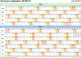 School Calendar 2015 2019 Template School Year Calendar Planner Under Fontanacountryinn Com