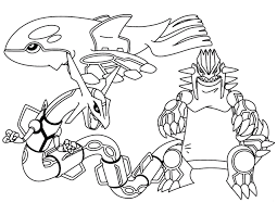 Pokemon Coloring Pages Groudon And Kyogre