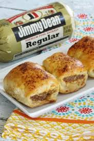 australian sausage rolls made from jimmy dean sausage wrapped in a pastry dough and