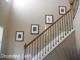 stair wall decorating ideas latest trends home pics of how to decorate a stairway wall
