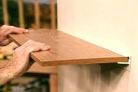 shelves without brackets a wall shelf without bulky support brackets slatwall shelf brackets home depot