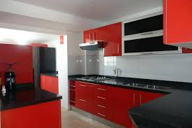 red kitchen cabinets what color walls gloss ikea uk . red kitchen ...