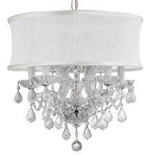 crystorama bwood 6 light crystal chrome drum shade mini chandelier ii